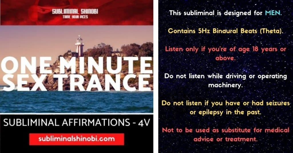 one minute sex trance