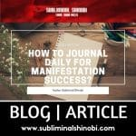 how to journal daily for manifestation success thumbnail